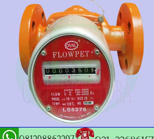 jual flow meter oval flowpet size 1 inch-type LS 5276 oval flowpet analog